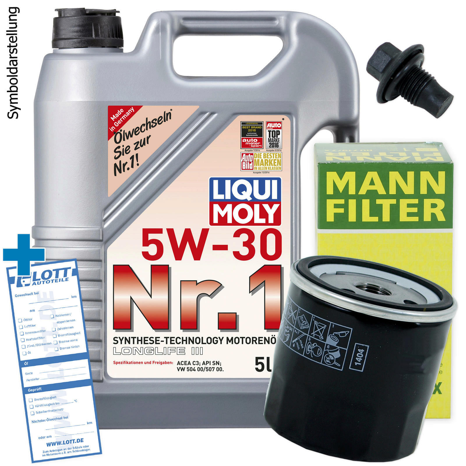 lwechsel set 5l 5w30 l motor l liqui moly mann. Black Bedroom Furniture Sets. Home Design Ideas