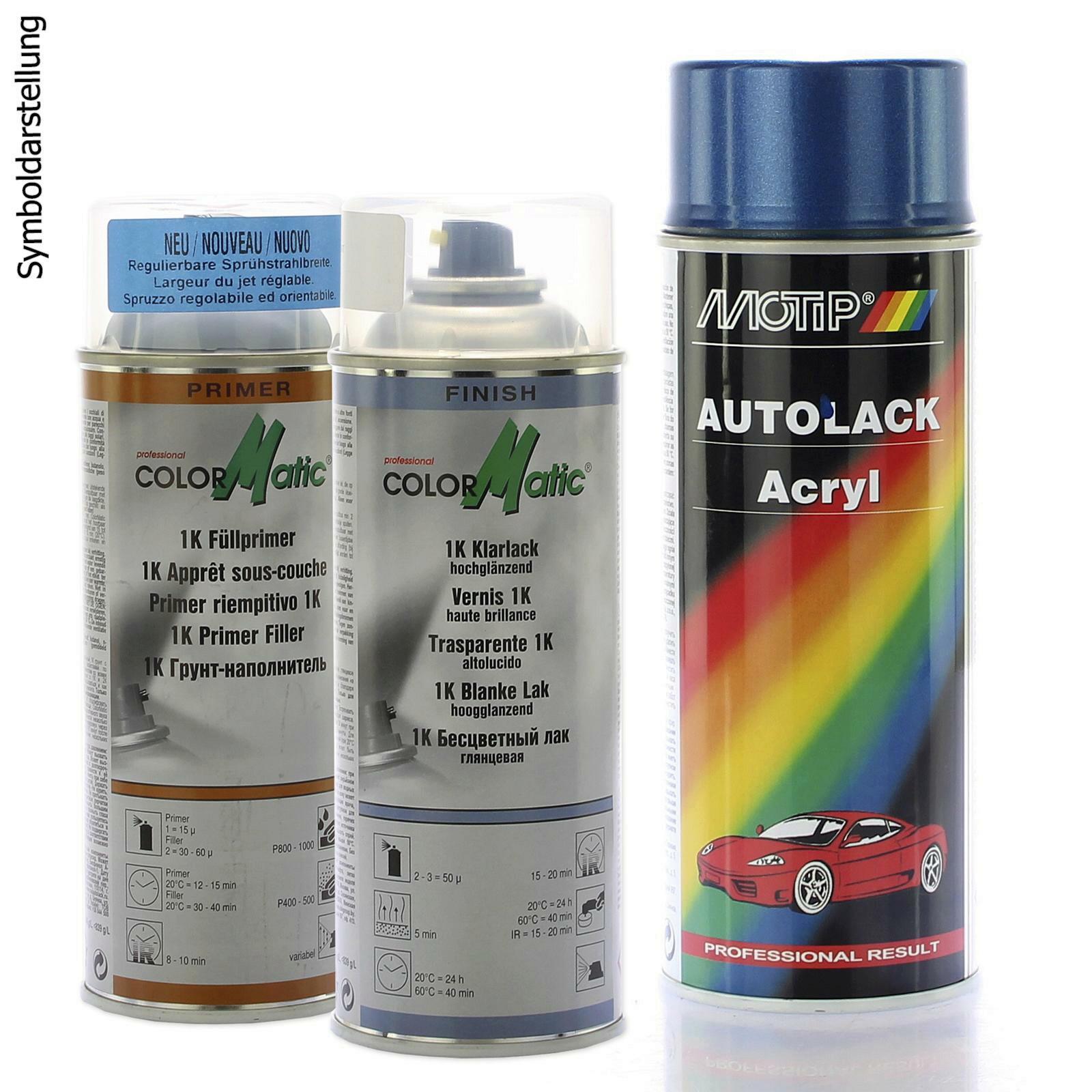 Motip Metallic Lackset Fullprimer HG3 + 1K Klarlack + Fahrzeug-Kombinationslack