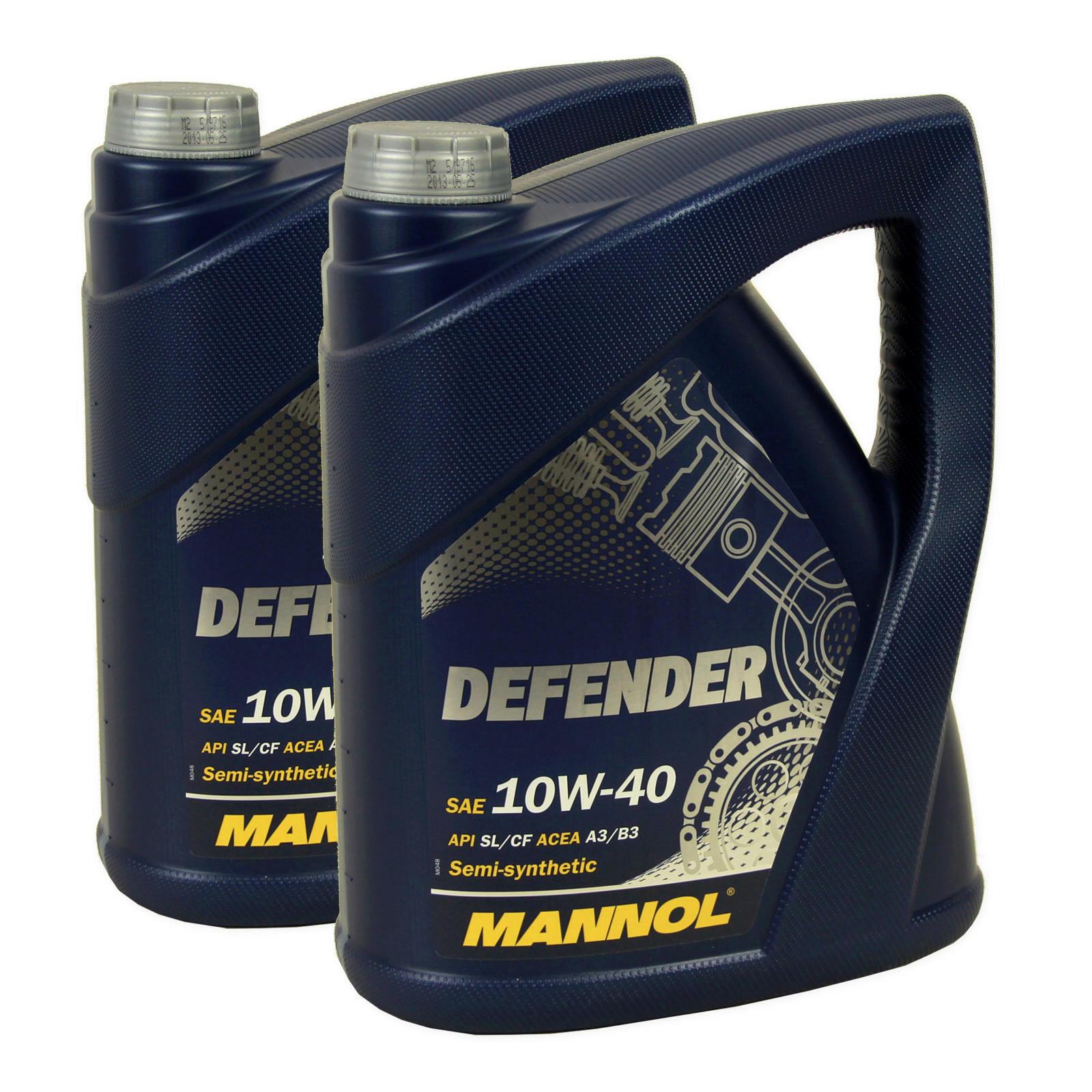 2x Defender 10W40 5L MOTORENÖL MANNOL 319010 MN7507-5