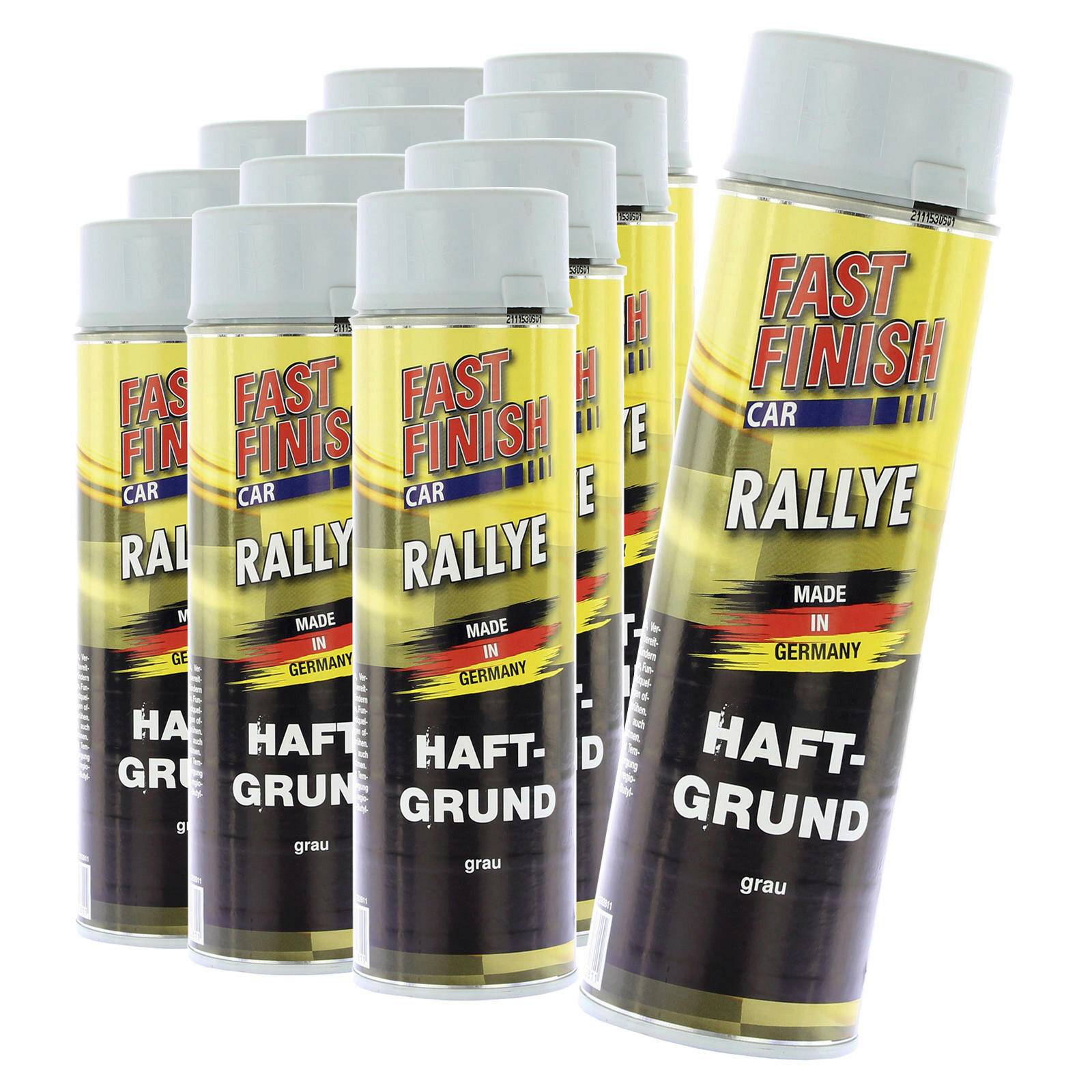 12x Fast Finish Haftgrund grau 500ml