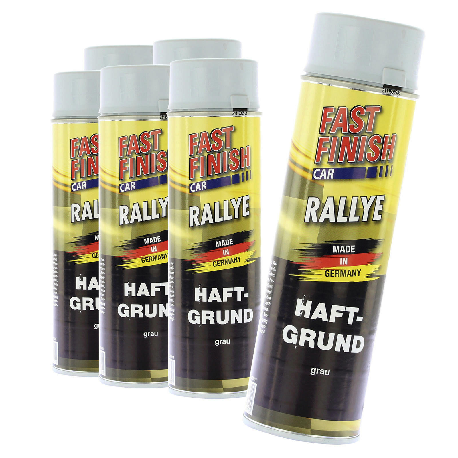 6x Fast Finish Haftgrund grau 500ml
