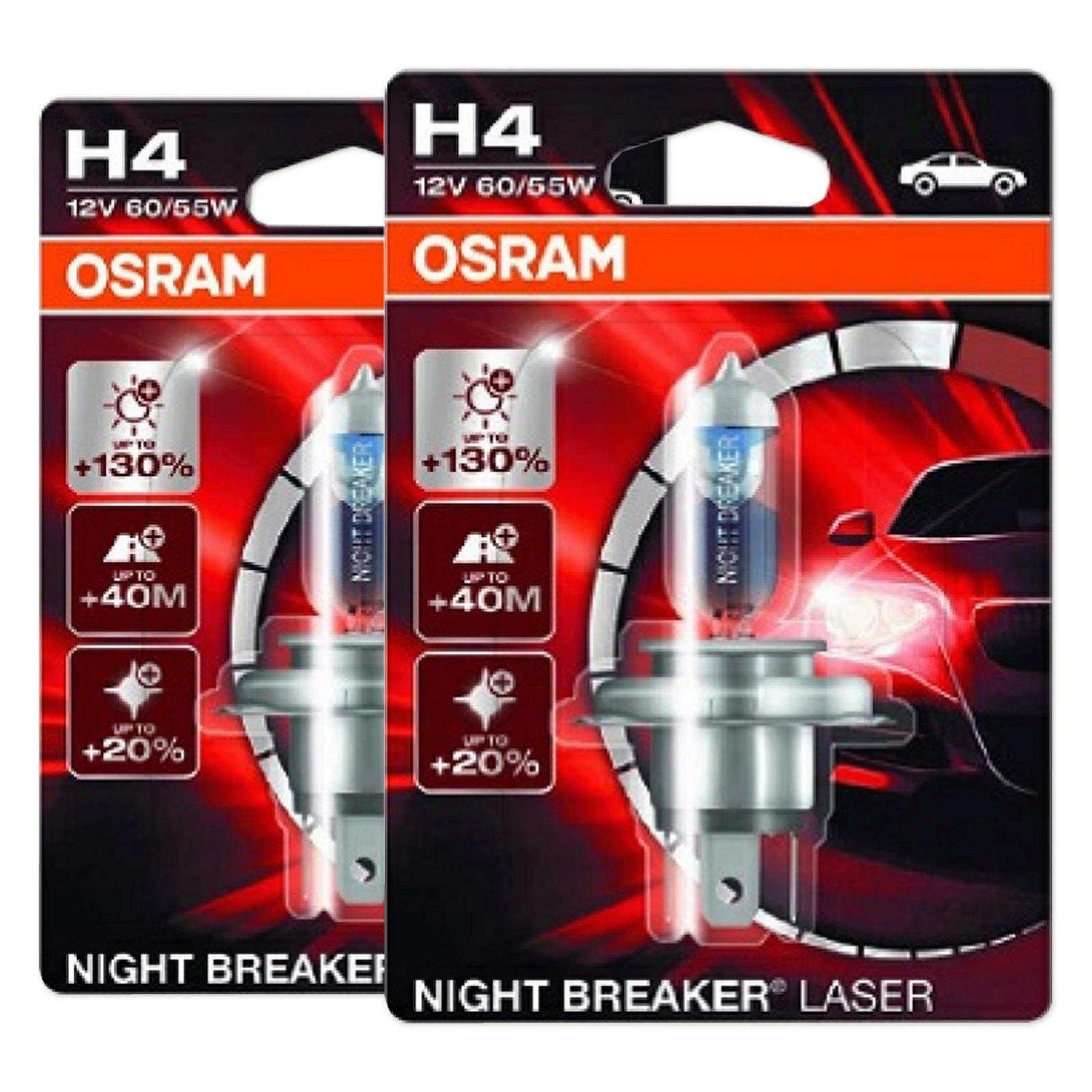 2x OSRAM NIGHT BREAKER LASER H4
