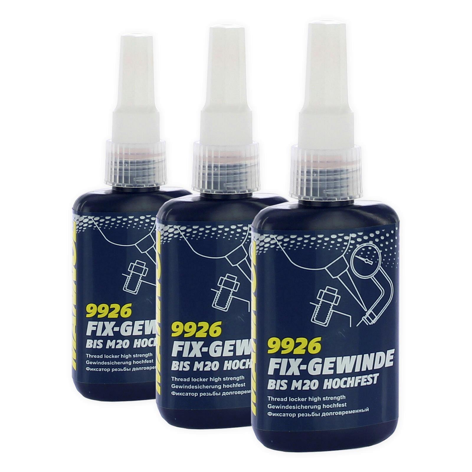 3x Mannol Fix-Gewinde hochfest 50ml