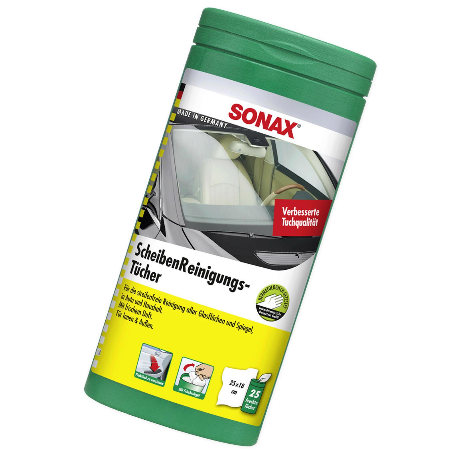 SONAX ScheibenReinigungsTücher Box