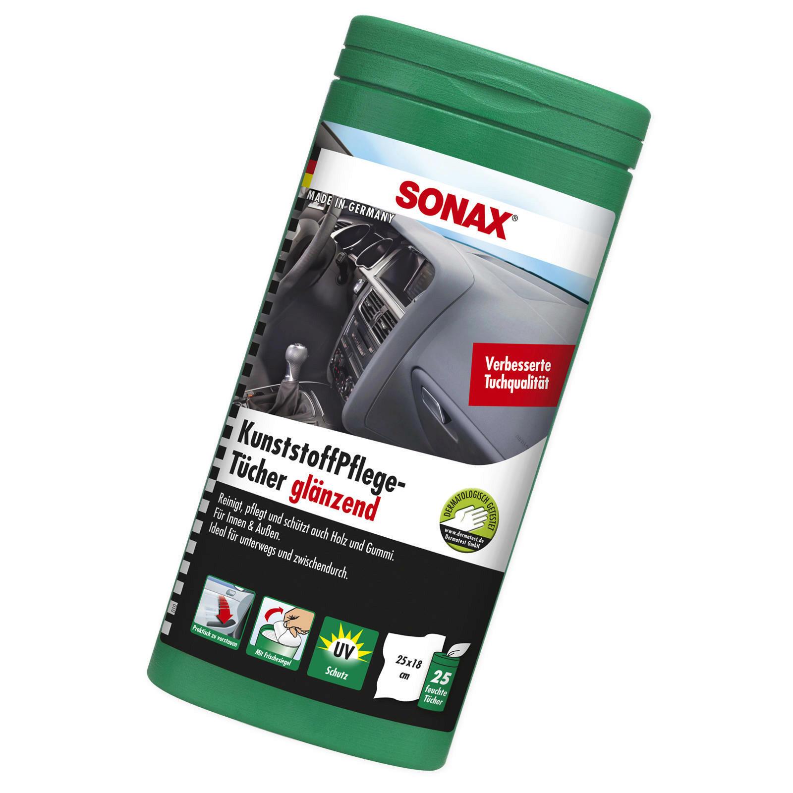 SONAX KunststoffPflegeTücher glänzend Box