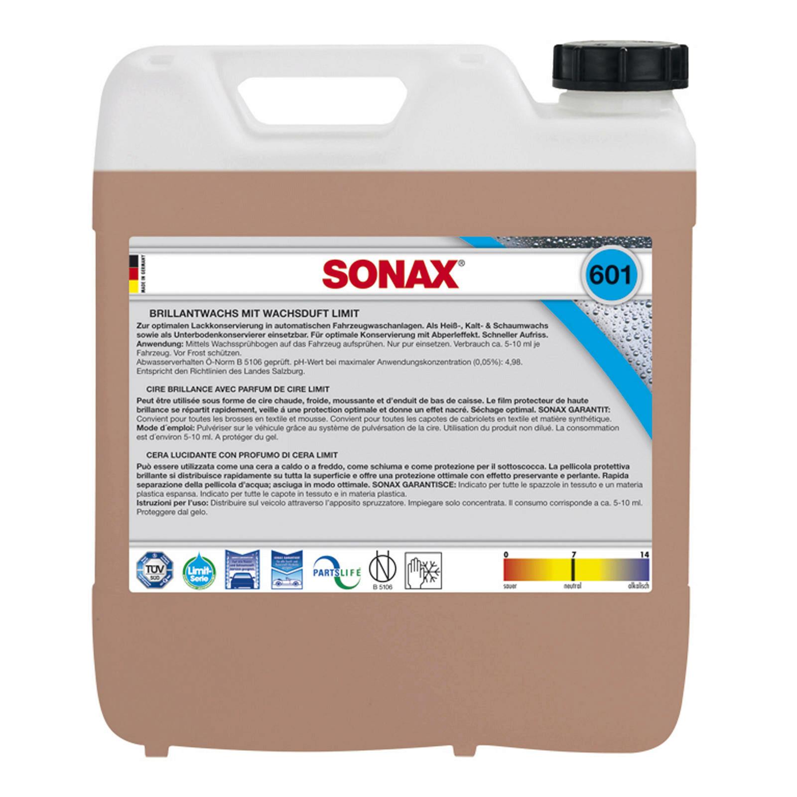 SONAX BrillantWachs mit Wachsduft 10l