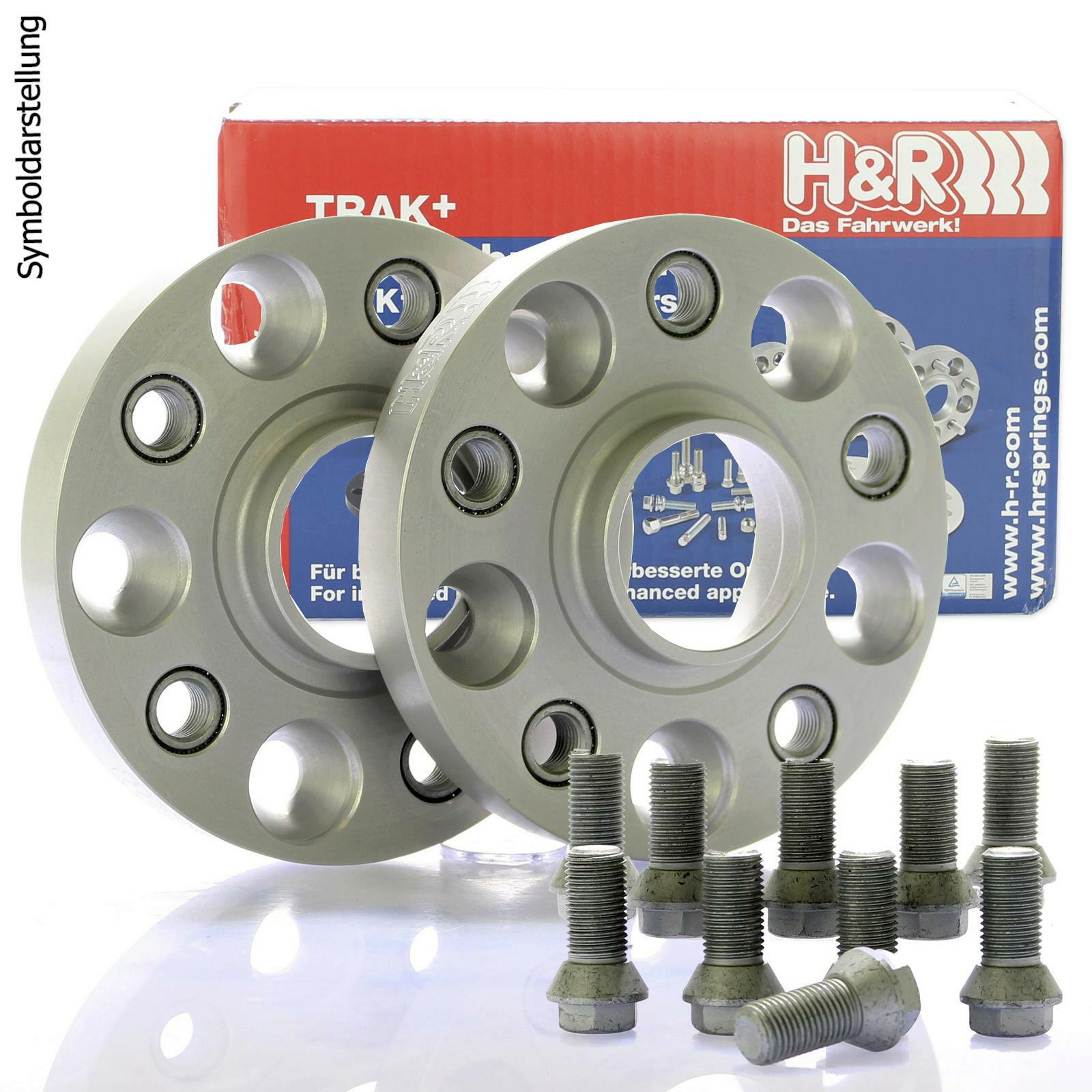 H&R DRA Spurplatten Spurverbreiterung Distanzscheibe 5x100 40mm // 2x20mm