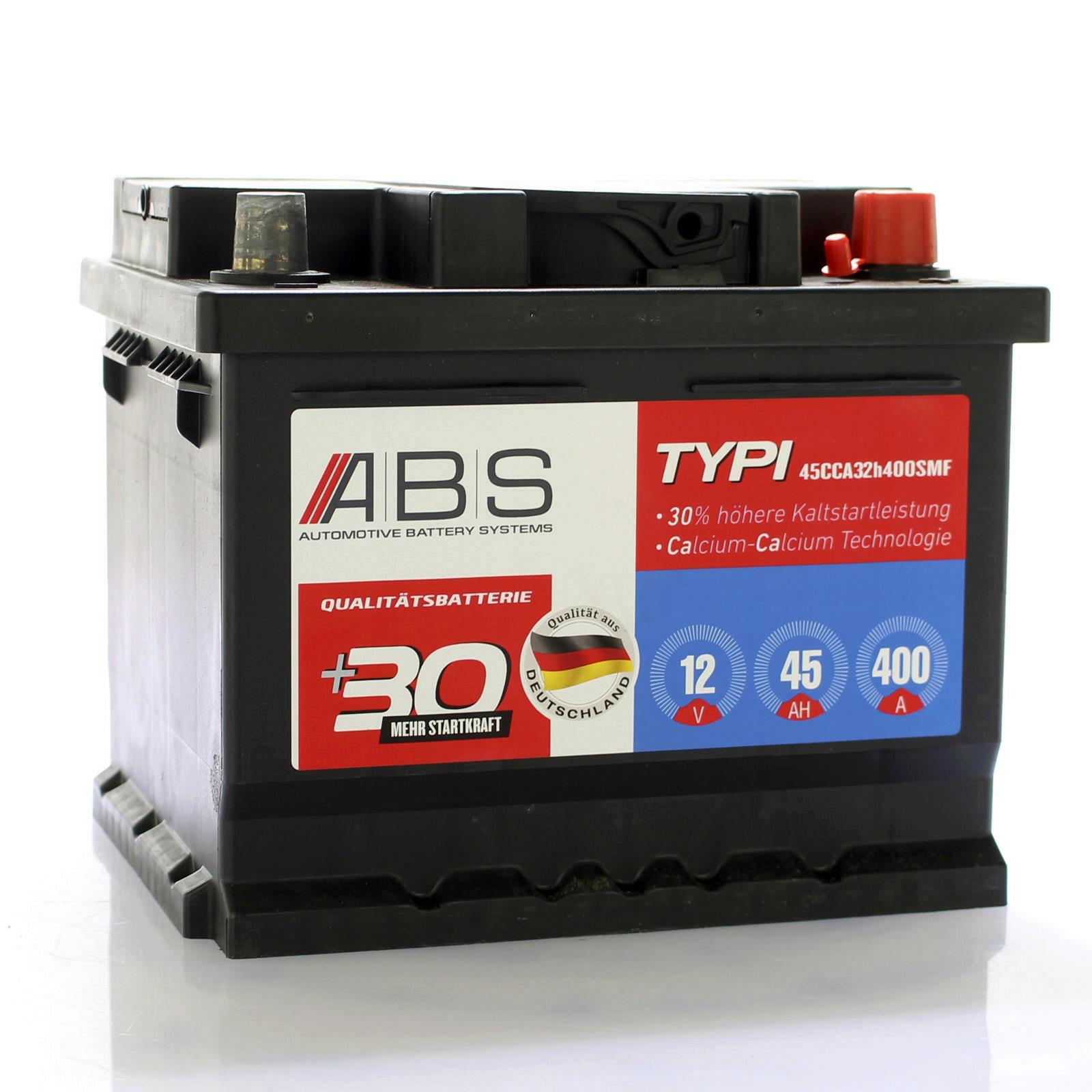ABS Starterbatterie wartungsfrei 12V 45 AH
