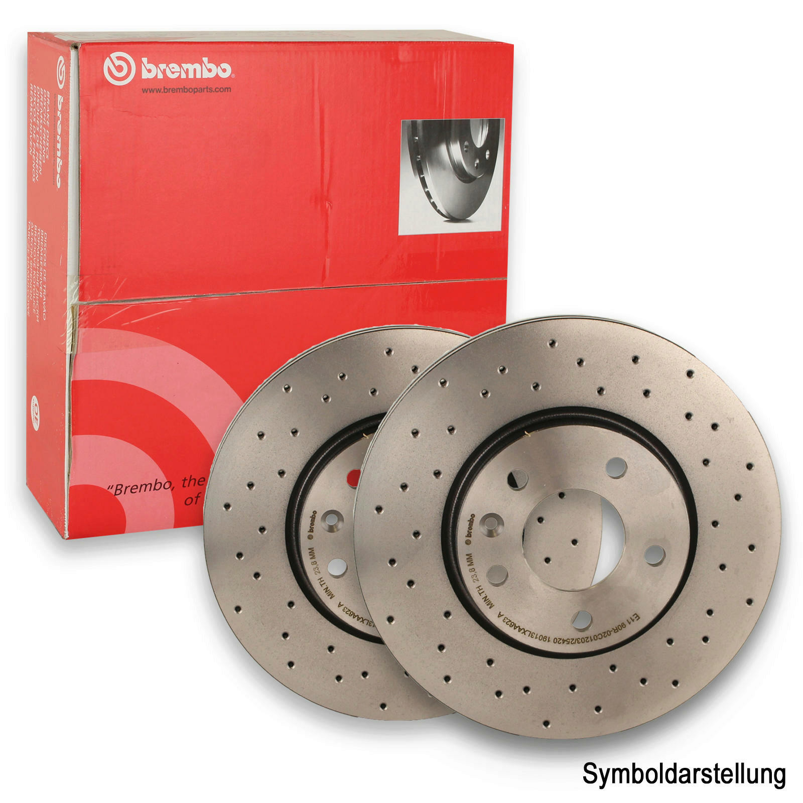 2x BREMBO Bremsscheibe BREMBO XTRA LINE