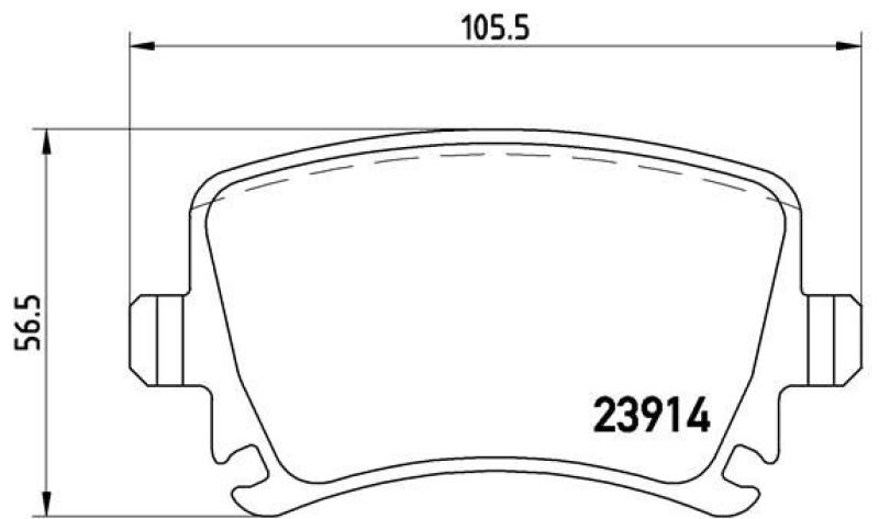 BREMBO 4x Bremsbeläge Bremsbelagsatz