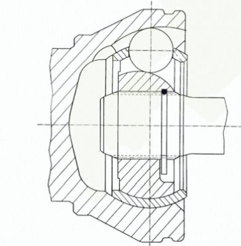 SPIDAN Gelenksatz, Antriebswelle