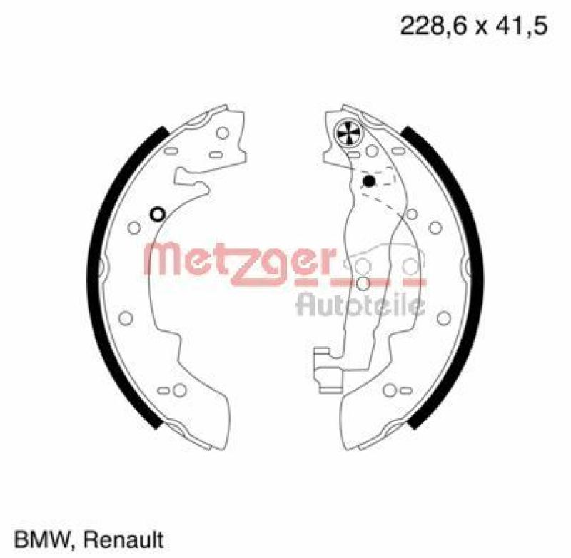 METZGER Bremsbackensatz