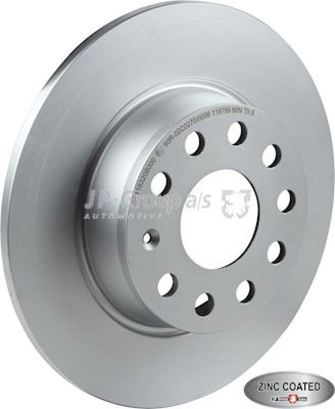 2x JP GROUP Brake Disc JP GROUP