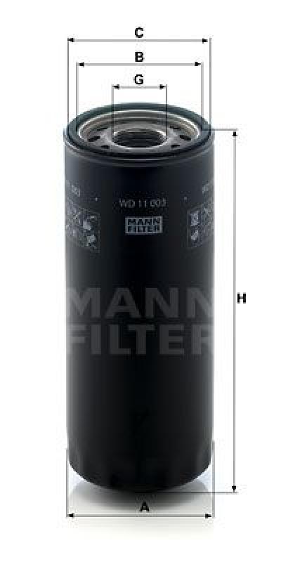MANN-FILTER Filter, Arbeitshydraulik