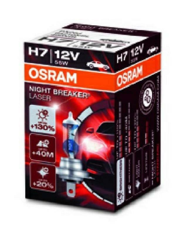 OSRAM Glühlampe, Abbiegescheinwerfer NIGHT BREAKER LASER