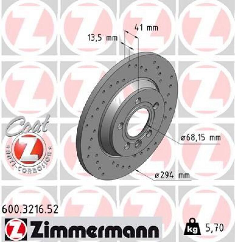 Zimmermann Sport Bremsscheiben + Zimmermann Bremsbeläge