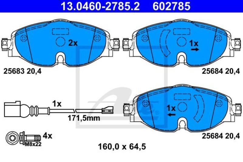 ATE Brake Pad Set, disc brake