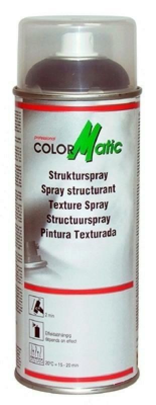 COLORMATIC Kunststofflack Strukturspray schwarz 400ml