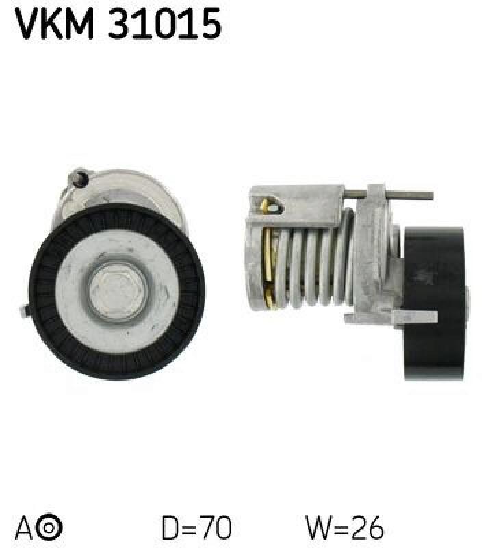 Keilrippenriemen für Riementrieb SKF VKM 37050-1 Umlenk-//Führungsrolle