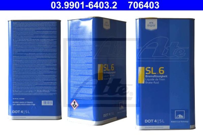 ATE Bremsflüssigkeit SL.6 DOT4 5 Liter