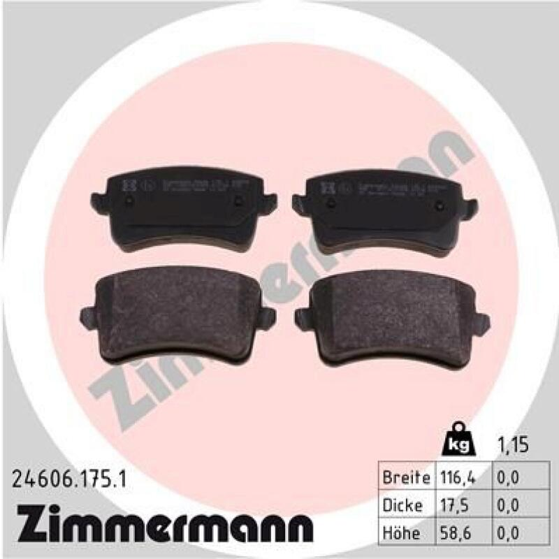 ZIMMERMANN Brake Pad Set, disc brake
