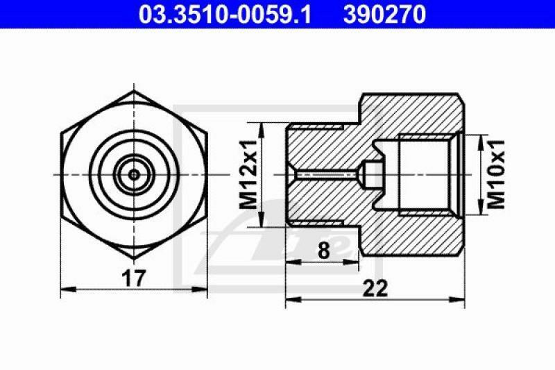 ATE Adapter, Bremsleitung