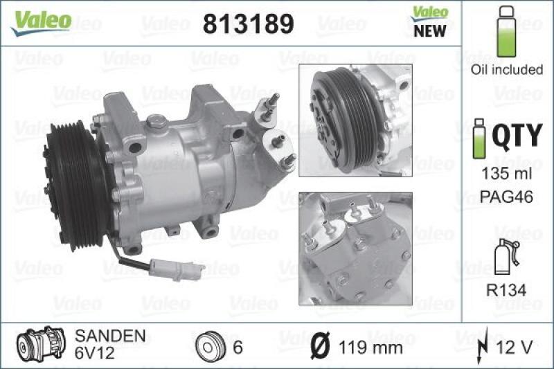 VALEO Kompressor, Klimaanlage NEW ORIGINAL PART