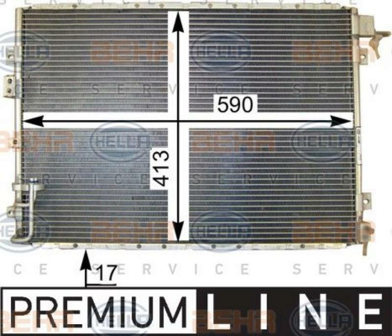 HELLA Kondensator, Klimaanlage BEHR HELLA SERVICE *** PREMIUM LINE ***