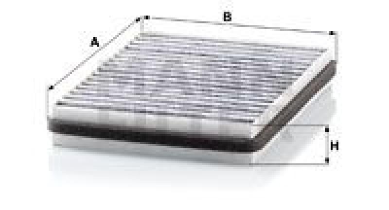 MANN-FILTER Filter, Innenraumluft adsotop
