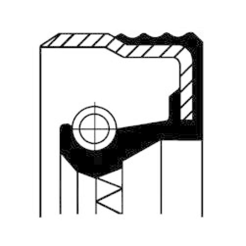 CORTECO Wellendichtring, Antriebswelle (Ölpumpe)