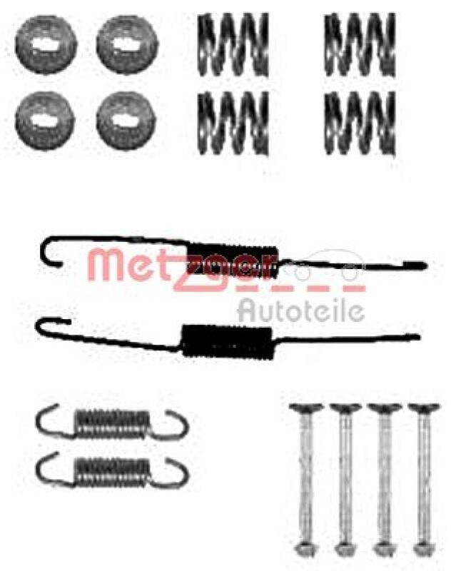 METZGER Zubehörsatz, Bremsbacken