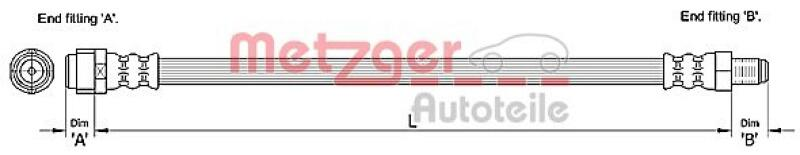 METZGER Bremsschlauch