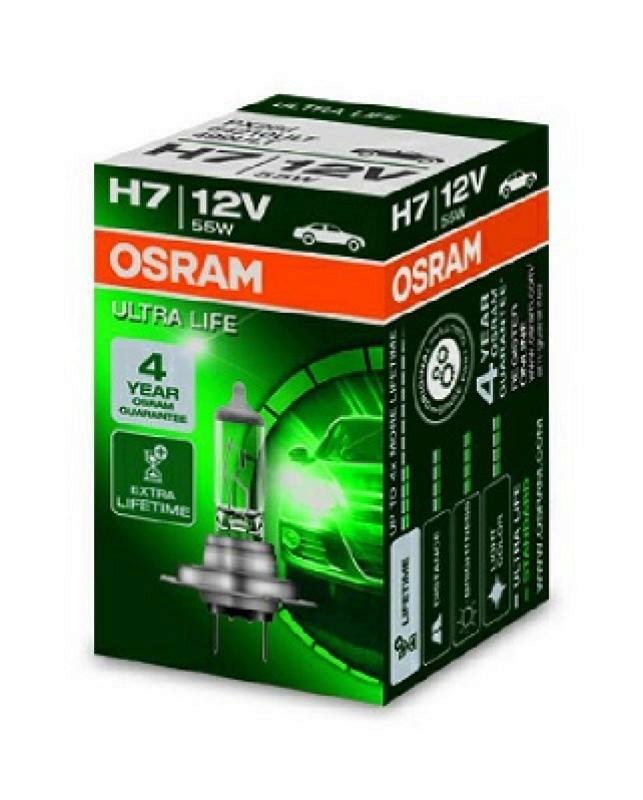 OSRAM H7 Hauptscheinwerfer ULTRA LIFE Glühlampe