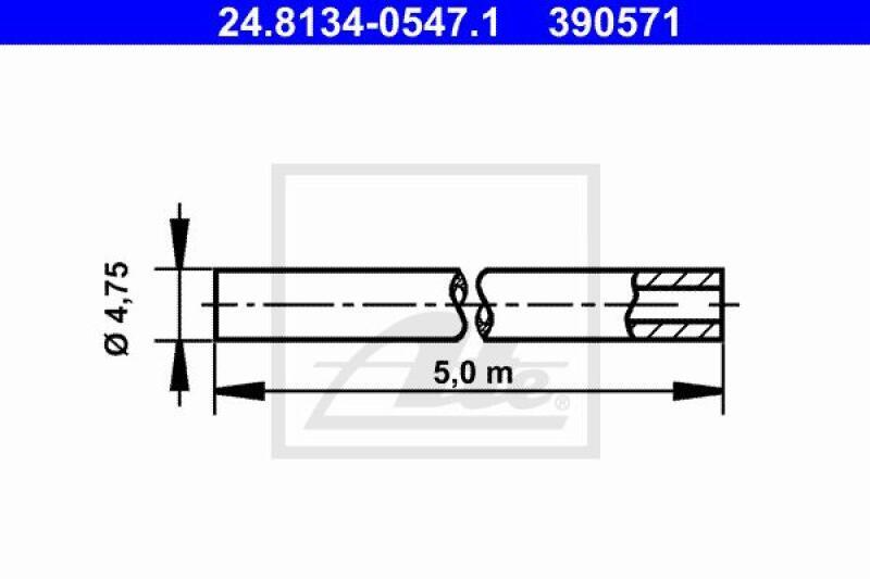 ATE Bremsleitung 4,75mm 5 Meter