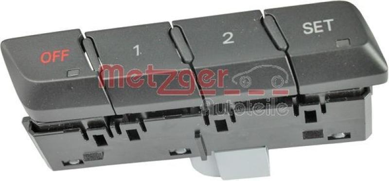 METZGER Stellelement, Sitzverstellung Original Ersatzteil