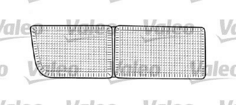 VALEO Lichtscheibe, Seitenmarkierungsleuchte
