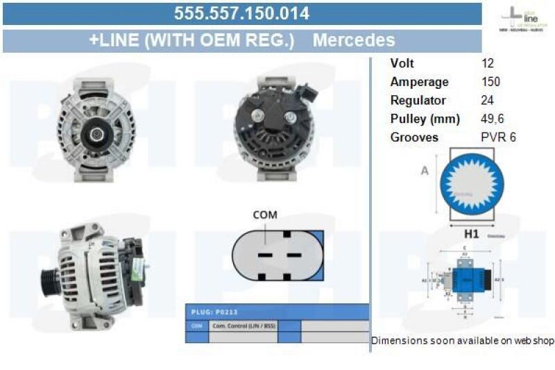 Lichtmaschine Generator Mercedes E-Klasse W211 E200 Kompressor Sprinter 906 150A