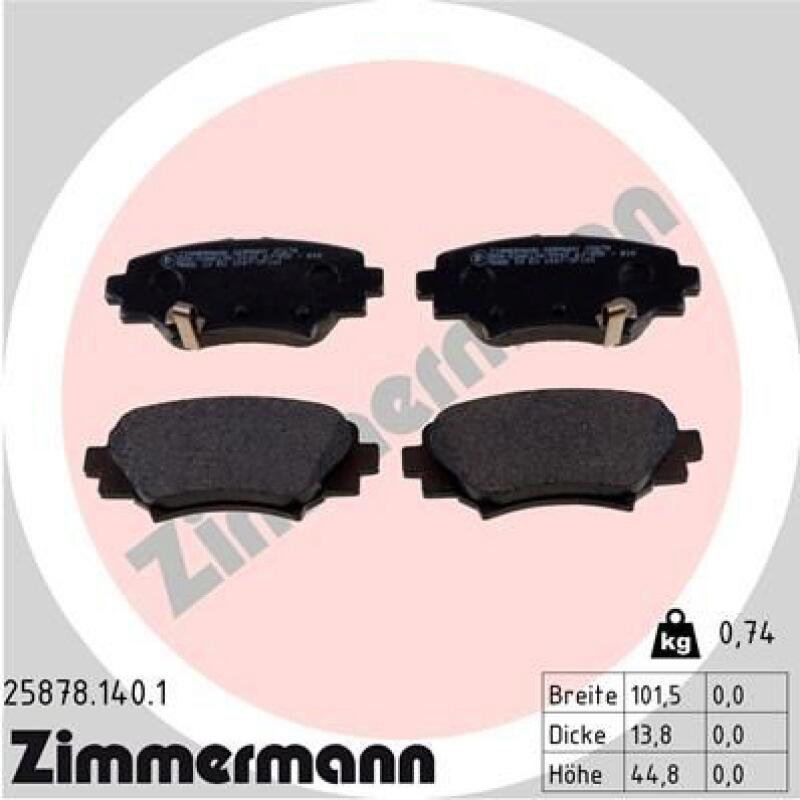Bremsbelagsatz Scheibenbremse Hintenu.a für Chevrolet Cadillac Pontiac Opel