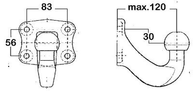 WESTFALIA Anschraubplatte, Anhängevorrichtung