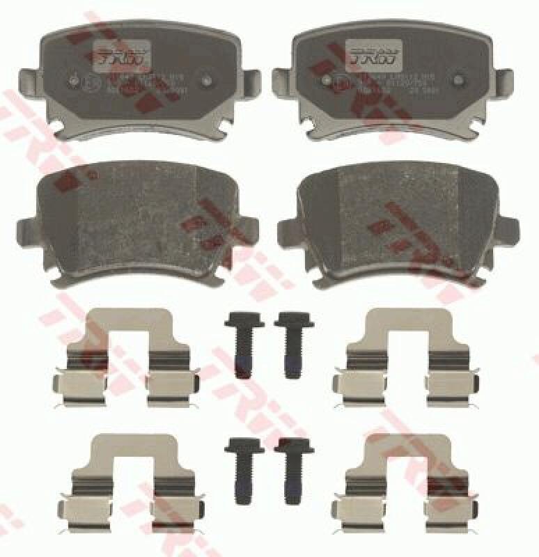 TRW 4x Bremsbeläge Bremsbelagsatz COTEC