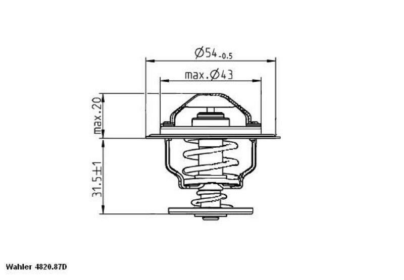 WAHLER Thermostat für Kühlmittel / Kühlerthermostat