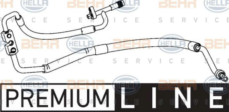 HELLA Hochdruck-/Niederdruckleitung, Klimaanlage BEHR HELLA SERVICE *** PREMIUM LINE ***
