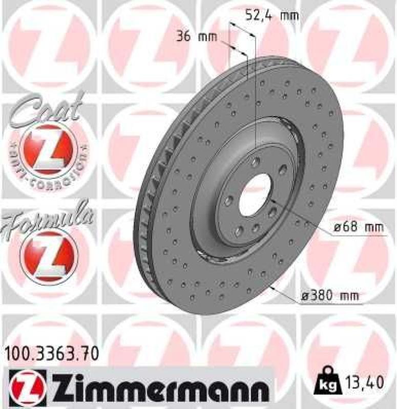 2x ZIMMERMANN Brake Disc FORMULA Z BRAKE DISC