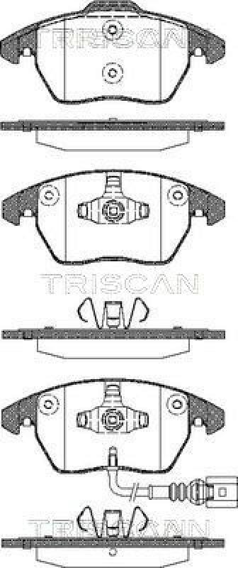 TRISCAN Bremsbelagsatz, Scheibenbremse