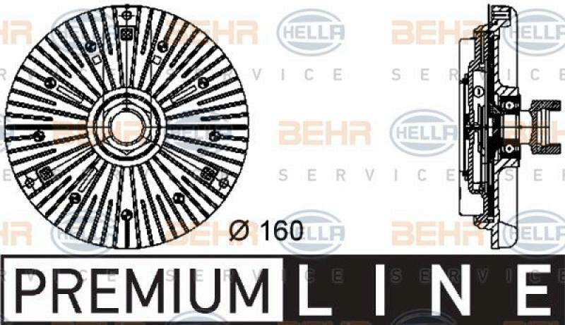 HELLA Kupplung, Kühlerlüfter BEHR HELLA SERVICE *** PREMIUM LINE ***