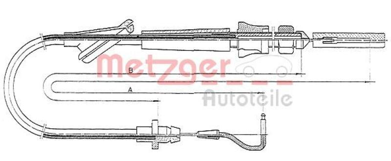 METZGER Gaszug COFLE