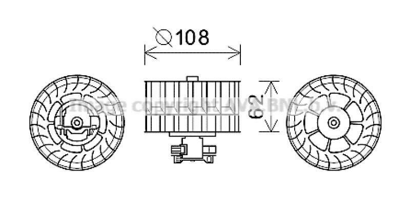 AVA QUALITY COOLING Elektromotor, Innenraumgebläse