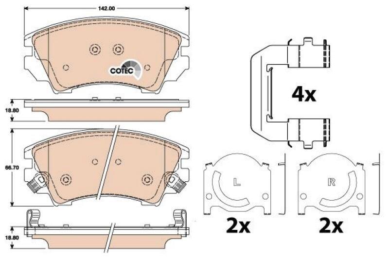 TRW Brake Pad Set, disc brake COTEC