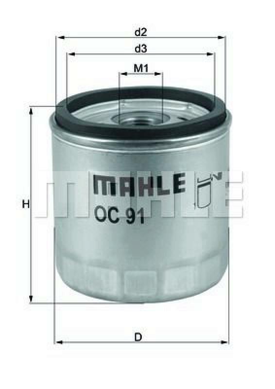 MAHLE ORIGINAL Ölfilter