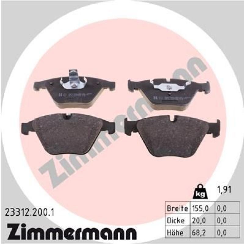 Zimmermann Bremsscheiben + Zimmermann Bremsbeläge